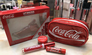 Lip Smacker Coca-Cola 3 Pc. Set + Bag ~ Lip Balm, Gloss & Scrub ~ BNIB