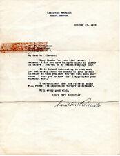 Franklin D. Roosevelt autograph grouping.