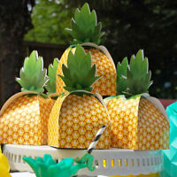 60× Pineapple Candy Box Treat Sweet Gift Boxes Hawaiian Birthday Party Favor