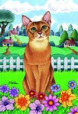 Spring Garden Flag - Abyssinian Cat 76001
