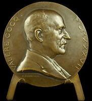 Medaille Belgique Valère Cocq 1937 sc A Bonnetain Belgium 59 mm 71 g medal