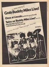Buddy Miles Live LP Lincoln concert advert Time Out cutting 1972