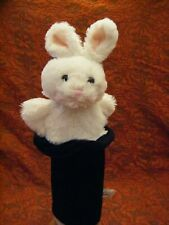"""A Pair Of Card Factory 'Rabbit in a Hat' 15"""" Bunny Rabbit Hand Puppets VGC"""