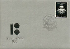Estonia 2018 FDC Republic of Estonia Centenary 1v Cover Silver Stamp Stamps