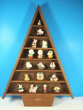 18 Inch Tall Hallmark Christmas Tree Shelves and 17 Merry Miniatures