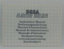 SEGA GAME GEAR INSTRUCTION MANUAL