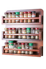 Spice Rack - Wooden - Open Top - 3 Tiers - Wooden Bar - 54 Herb and Spice Jars