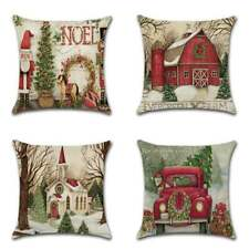 "NEW 18"" US Cartoon Cute Christmas Cushion Cover Pillow Case Xmas Sofa Home Decor"