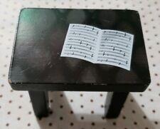 KIDKRAFT FAR FAR AWAY DOLLHOUSE REPLACEMENT WOOD FURNITURE BLACK PIANO BENCH