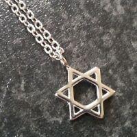 Stainless Steel Star of David, Hexagram, Pendant Necklace, Gift Friend, Partner.