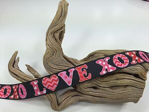 Sale! 3 Yards 7/8 Inch Printed XOXO LOVE Grosgrain Ribbon Valentines Day Lisa