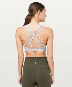Lululemon Free to Be Serene Bra Washed marble Alpine Multi Strappy Cups Size 6