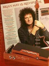 Brian May, Queen, DigiTech, Full Page Vintage Promotional Ad