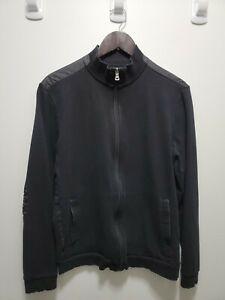 Hugo Boss Full Zip Sweater Black Size Large