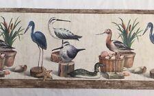 "Rosedale Wallcoverings Wallpaper Border Shore Birds & Shells 15 Yards x 6 7/8"""