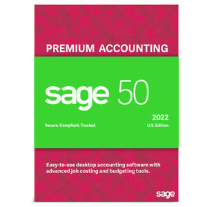 SAGE 50 2022 PREMIUM 2 USERS DOWNLOAD+DVD UNLMTDSUPPORT-NOT A SUBSCRIPTION