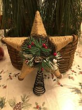 Rustic Christmas Tree topper Star Holiday 10""