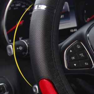 Car Steering Wheel Wrap Cover Anti-slip Protector Accessories For 15inch/38cm