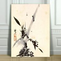 "Beautiful Japanese Bamboo & Kanji - CANVAS ART PRINT POSTER -18x12"""