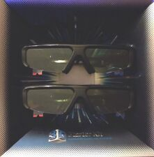 2pc original samsung 3d tv battery operated glasses ssg-2100ab/za.