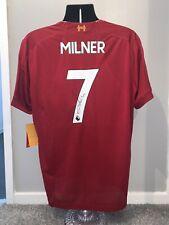 Signed James Milner Liverpool 19/20 Home Shirt Proof England