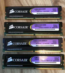 4GB (4 X 1GBSTICKS MATCHED PAIRS) CORSAIR XMS2 DDR2-800 / PC2-6400 RAM