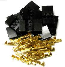 C1001GM10 RC JR Set Male Battery Servo Connector Plug Full Gold x 10