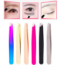 Eyebrow Tweezers Hair Removal Stainless Steel Slant Tip Eyebrow Clip Makeup Tool