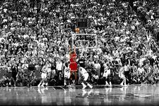 "Basketball Star Poster for Michael Jordan -Last Shot Silk Fabric Cloth 36""x24"""