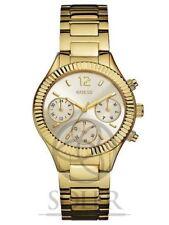 Relojes de pulsera baterías Chrono de acero inoxidable dorado