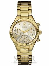 Relojes de pulsera Chrono de acero inoxidable dorado de acero inoxidable dorado