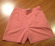 Golf Shorts Sz 12 Coral Pink Microfiber Elastic Garter Water Repel Marcia Sport