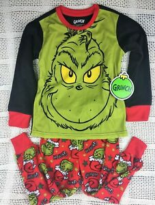 Grinch Boys Christmas Dr Seuss Your a Mean One 2 Pc Pajama Set Multiple Sizes