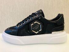 Philipp Plein Limited Edition Black Hexagon Low-Top Sneakers UK 8/EU 42/US 9