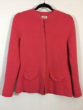 TALBOTS Sweater Women Size Medium Petite Pink Button Front Silk Blend Cardigan
