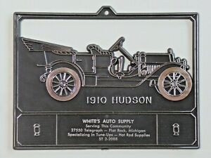 Vintage Advertising Calendar Topper Plastic White's Auto Supply 1910 Hudson MI