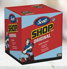 """SCOTT Original Blue Shop Towels Box - 200 Paper Towels 10"""" X 12"""""""