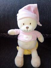 """Spieluhr Tri International Bär rosa mit Mond ,, Guten abend, gute Nacht"""""""