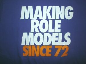 NIKE MAKING ROLE MODELS SINCE 1972 T SHIRT Block Lettering Sports Star Athlete L