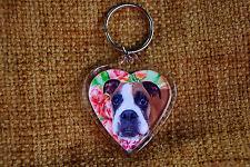 Boxer Dog Gift Keyring Dog Key Ring heart shaped gift Birthday Gift
