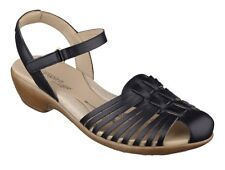 Easy Spirit Geonna strappy sandals black leather slingback sz 6.5 WIDE New