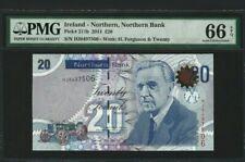 2011 Northern Ireland 20 Pounds PMG66 EPQ GEM UNC <P-211b>