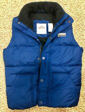 $ 79 NWT Hollister by Abercrombie Fleece-lined Puffer Vest Blue Mens Medium MED