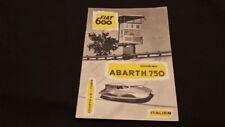 Original Abarth 750 Zagato GT Spezialwagen Umbau Fiat 600 Prospekt Brochure