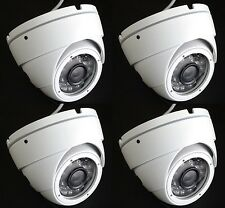 "Set (4) HD TVI 2.4MP 1080p HD 1/2.8"" CMOS Outdoor IR Dome Security Cameras 3.6MM"