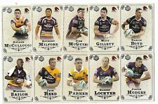 2018 NRL Special Edition Glory Brisbane BRONCOS 14 Card Team Set