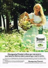 PUBLICITE ADVERTISING  1983  TIMOTEI   shampoing tés doux