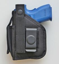 """Gun Hip Holster Springfield XD 3"""" 9mm or 40 Subcompact with Underbarrel Laser"""