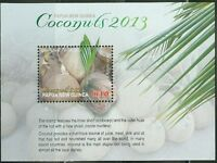 PAPUA NEW GUINEA 2013 COCONUTS  SOUVENIR SHEET MINT NH