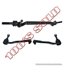 Center Drag Link Tie Rod Rods Inner + Outer for BMW E39 V8 540i 540iT M5 SET 3